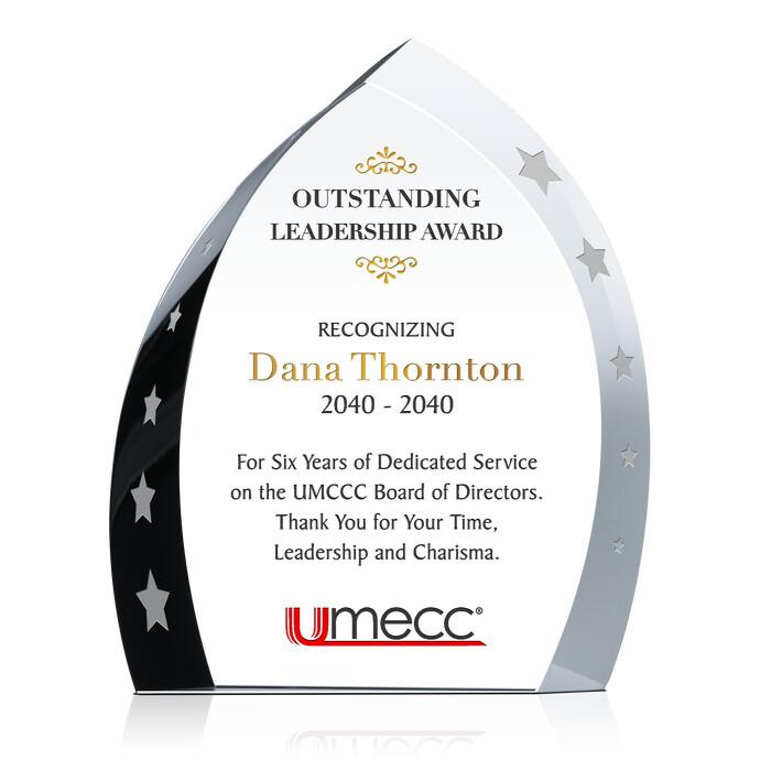 crystal achievement award plaque diy awards
