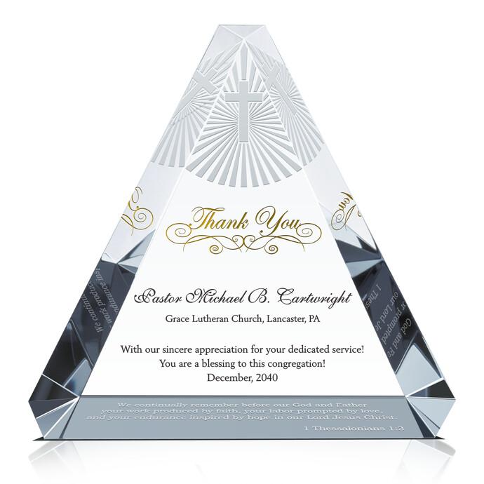 Appreciation Plaque for Pastors, Priests, Deacons | DIY Awards