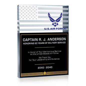 Going Away Quotes For Military Plaques: USAF Service Recognition Wording #1 (#308-1)