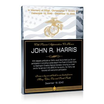 Memorial Appreciation Gift Plaque (#311-4)