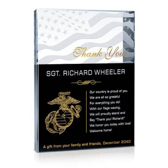 Marine Appreciation Gift Plaque (#311-1)