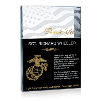 Thank You Marine Gift Plaque (#311-2)