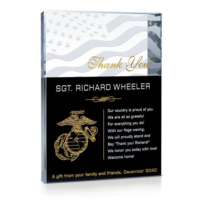 Famous Marine Corps Quotes Unique Marine Corps Service Plaques & Thank You Quotes  Diy Awards
