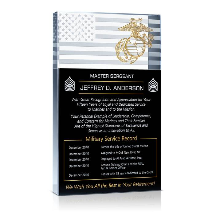 Marine Corps Retirement Plaque and Poem Samples | DIY Awards