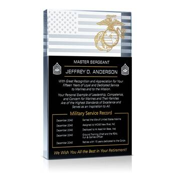 Marine Corps Retirement Plaque