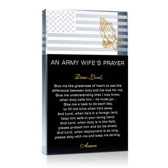 An Army Wife's Prayer Gift Plaque  (#319-3)