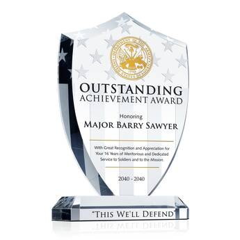 Shield Recognition Plaques for Army Corps Service | DIY Awards