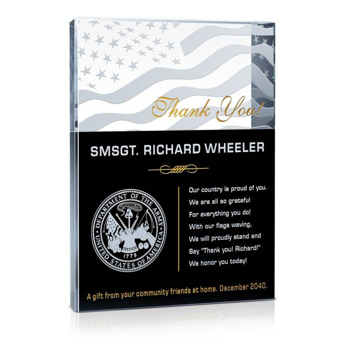 Army Thank You Plaques and Appreciation Quotes | DIY Awards