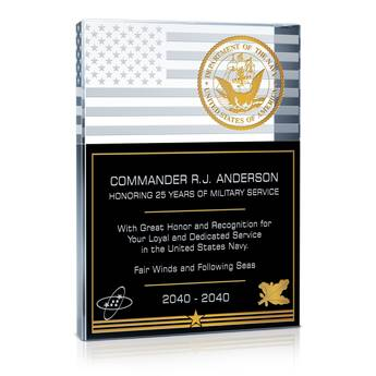 Navy Service Recognition Wording (#329-1)