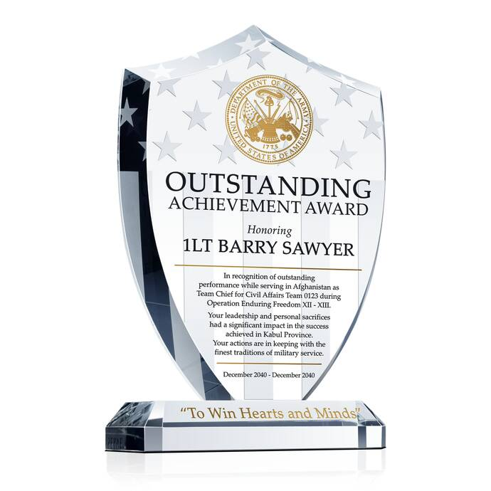 Shield Recognition Plaques for Military Service | DIY Awards