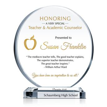 Teacher Appreciation Plaque
