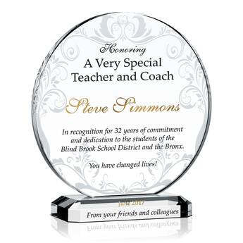 Gift for a Very Special Teacher & Coach (#348-5)
