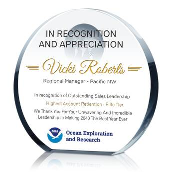 Globe Leadership Award Plaque (#029-1)