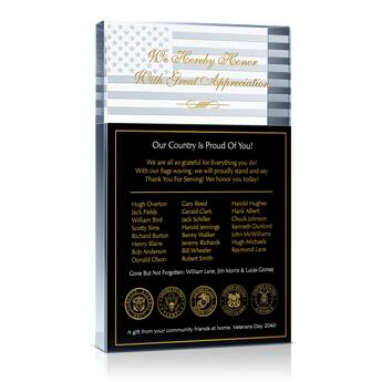 Veteran's Day Gift Plaque (#408-5)