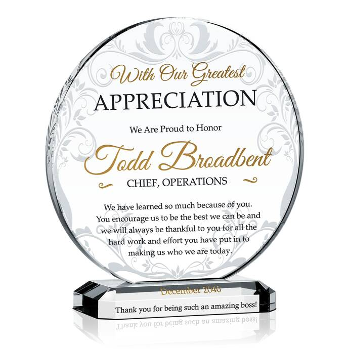 Great Wedding Gifts For Your Boss : Boss Appreciation Day Gift DIY Awards