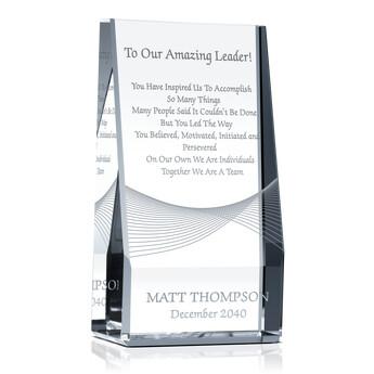 Unique Boss Appreciation Plaques with Sample Award Wording