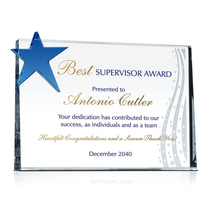 Star Boss Appreciation Plaque | DIY Awards