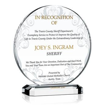 Chief Deputy Appreciation Award (#461-4)