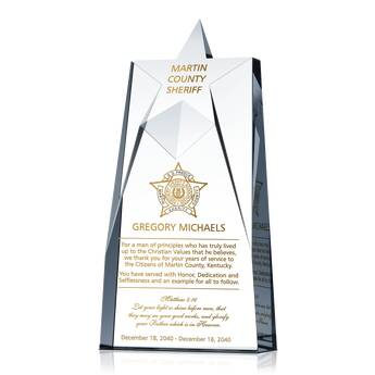 Sheriff Service Recognition Award 463 5 Wording Ideas