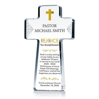 Pastor Appreciation Cross Plaque