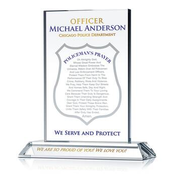 Police Officer's Prayer Plaque