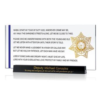 St Michael Prayer Plaque for Protection (#483-2)