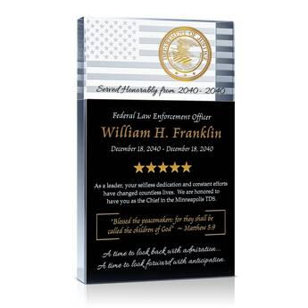 ATF Agent Retirement Plaque (#509-1)
