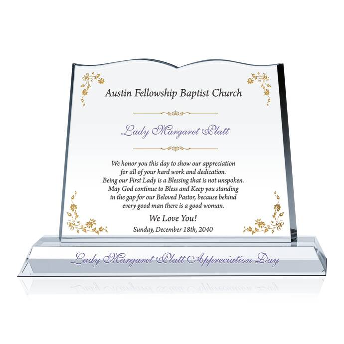 Pastor wife appreciation gift plaque diy awards sample appreciation wordings xflitez Image collections