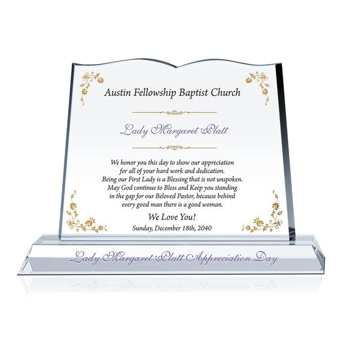 Pastor Wife Appreciation Plaques