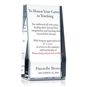 Teacher & Educator Retirement Gift Wording (#532-3)
