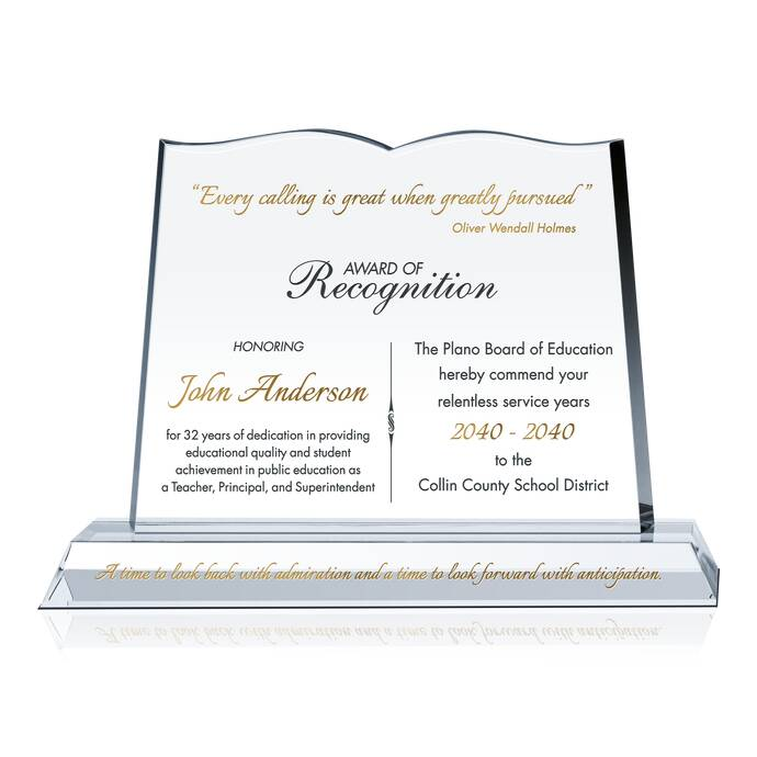 Special teacher recognition plaque diy awards recognition wording xflitez Image collections