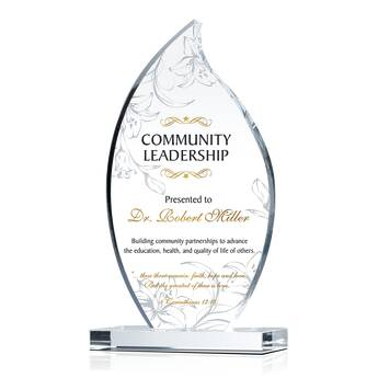 Community Leadership Award Wording and Quote