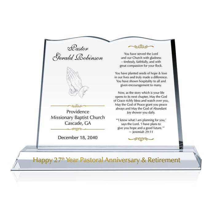 Clergy Retirement Gift Plaque | DIY Awards
