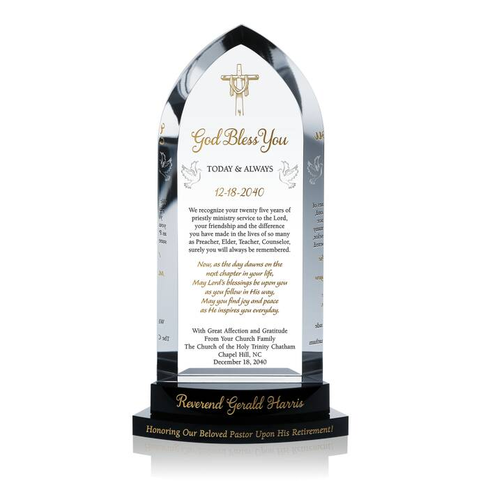 Cathedral Pastor Farewell Gift | DIY Awards