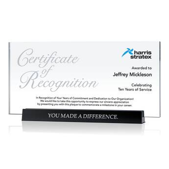 Long Service Certificate Of Recognition Plaque (#576 4)  Certificate Of Recognition Wordings