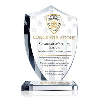 Shield Police Graduation Plaque