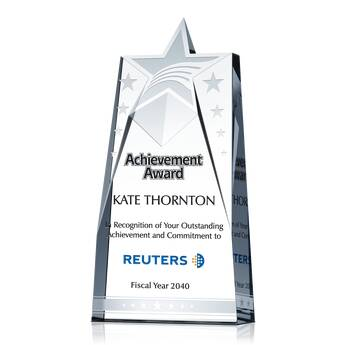 Star Achievement Award Plaque (#064-2)