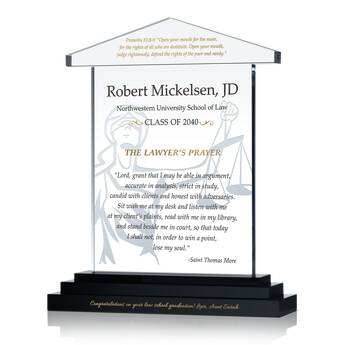 Lawyer's Prayer Graduation Gift Plaque