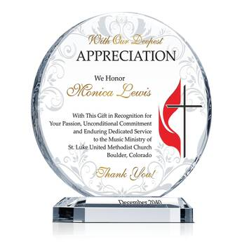 Methodist Music Ministry Appreciation Plaque 608 2
