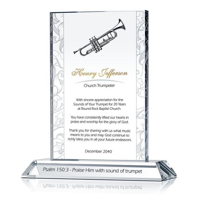 Music Minister Anniversary Plaque   DIY Awards