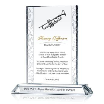 Music Minister Anniversary Plaque