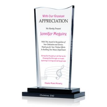 Church Music Director Appreciation Plaque (#610-2)