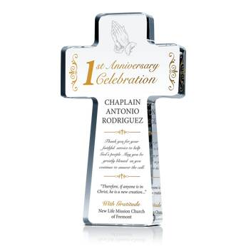 1st Pastoral Anniversary Gift Plaque