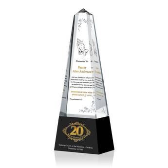 20th Pastoral Anniversary Gift Plaque