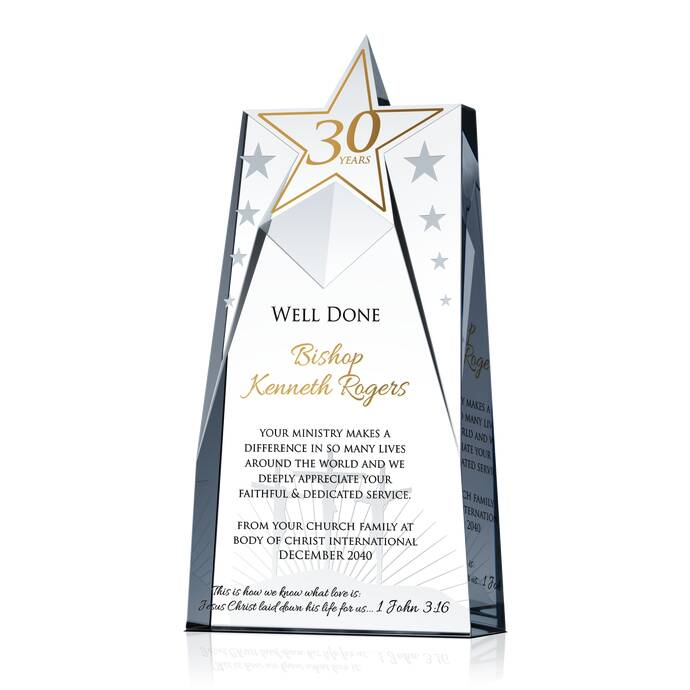Priest Anniversary Gift Plaque   DIY Awards