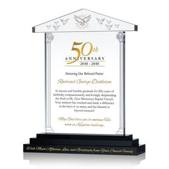 50th Pastoral Anniversary Gift Plaque