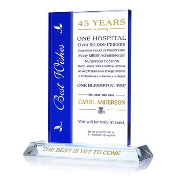 Personalized Retiring Nurse Gift with Service Records