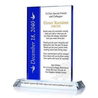 School Nurse Retirement Gift Plaque 667 2 Wording