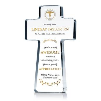 Nurse Appreciation Cross Plaque