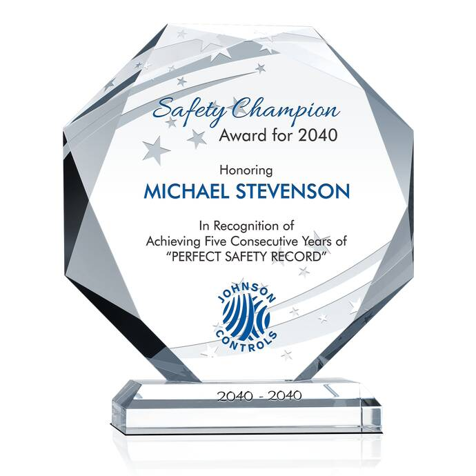 Octagon Safety Recognition Plaque & Safety Incentive Ideas | DIY ...